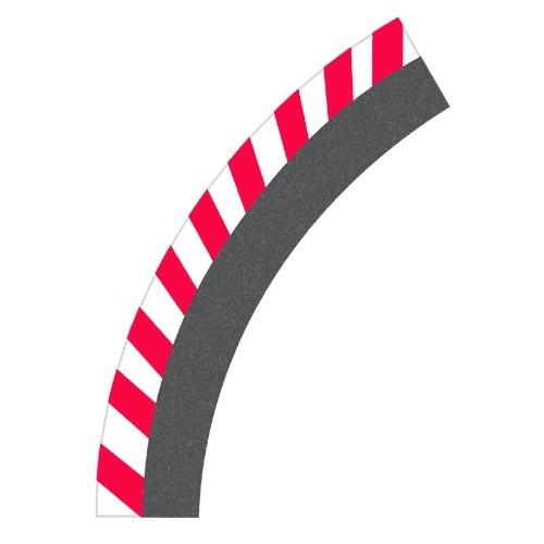 Carrera Digital 132/124  Außenrandstreifen Kurve 1/60