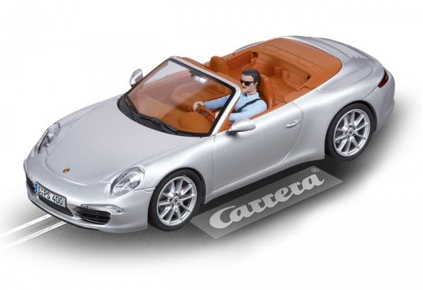 Carrera Digital 132 Porsche 911 Carrera S Cabriolet Silber