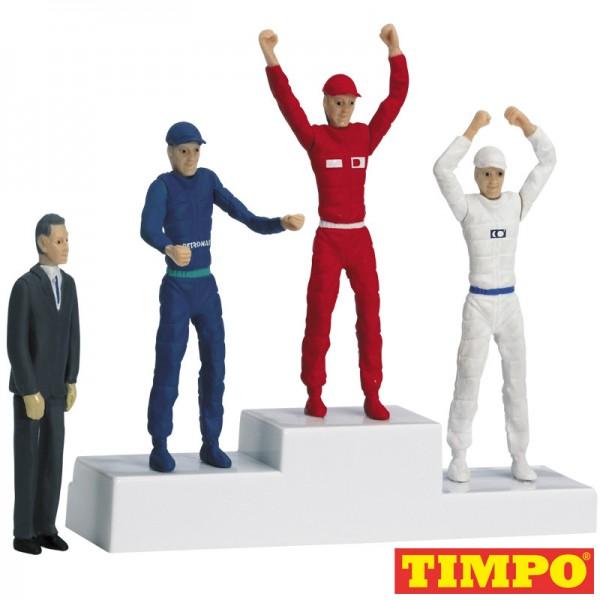 Carrera Siegerpodest mit Figuren